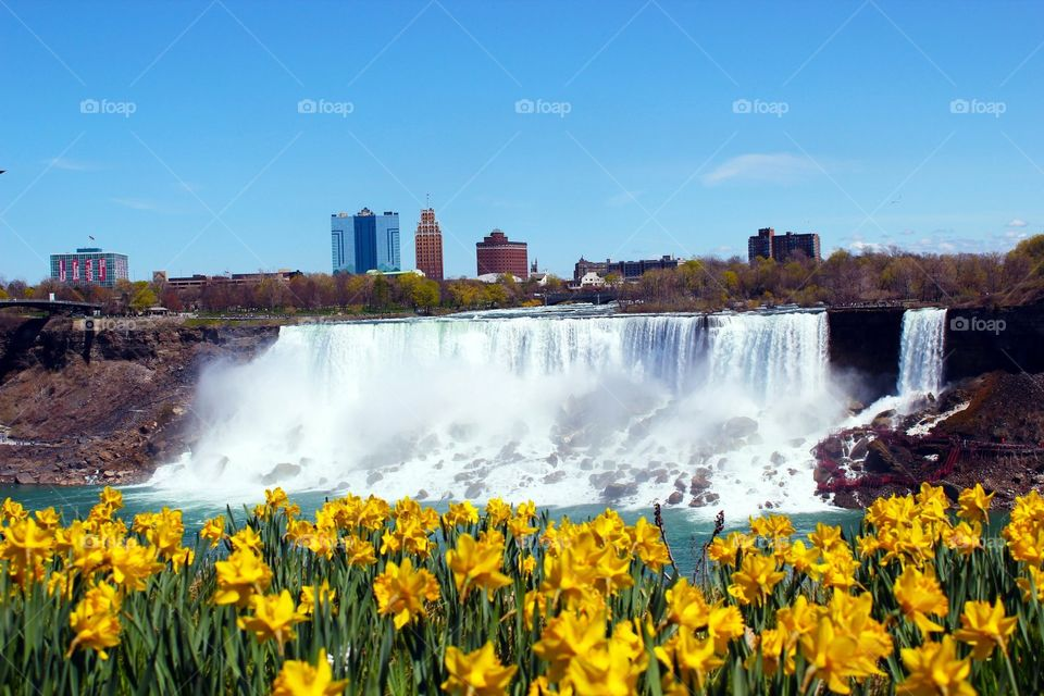 View of American falls from Canada
