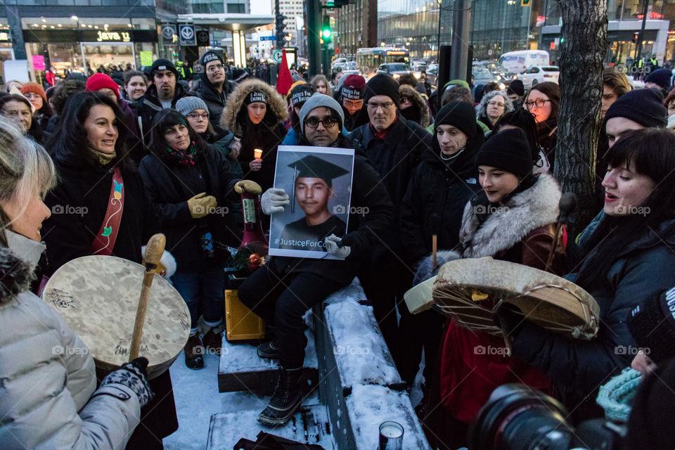 Montreal vigil for Colten Boushie