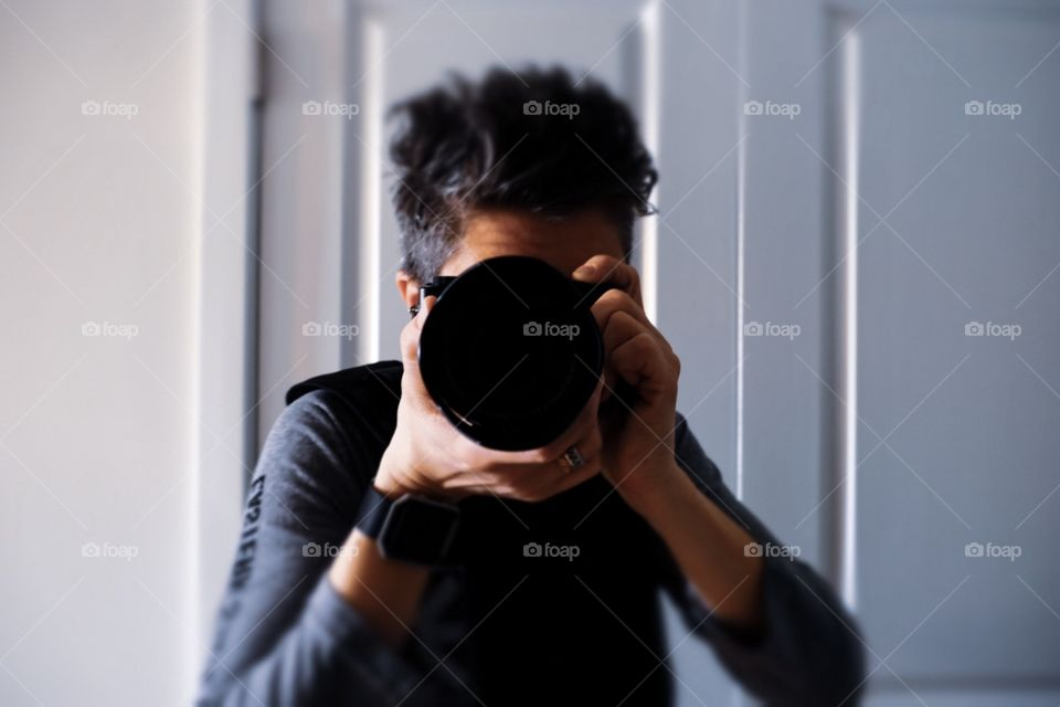 Portrait Of A Photographer, Woman Photographer, Focused Portrait, Selfie With A Camera, Woman Selfie, Fujifilm Camera Equipment