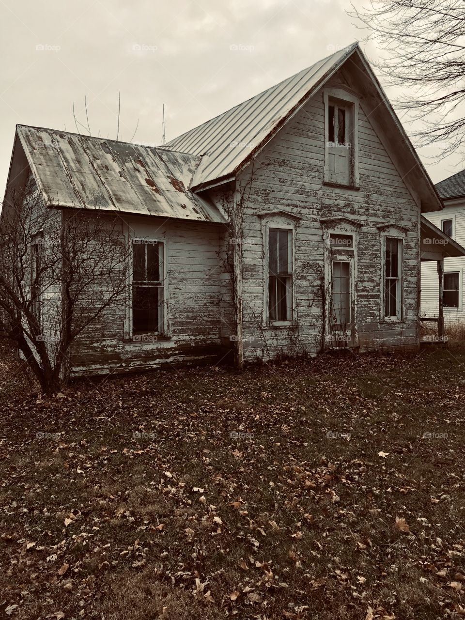 Abandoned house in the old town of Jenera Ohio