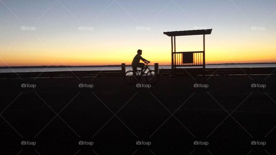 Sunset, Evening, Silhouette, Dawn, Dusk