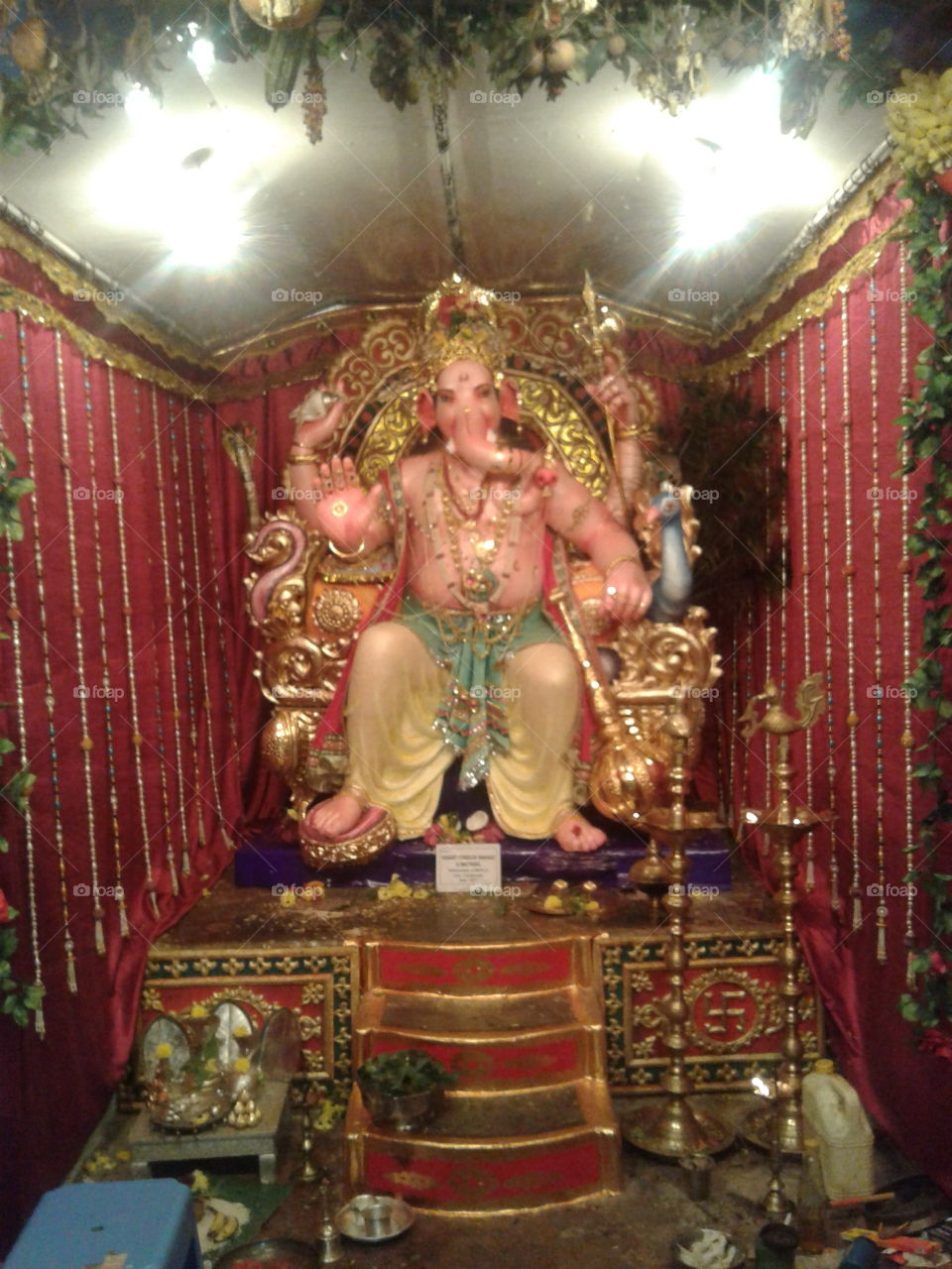 Lord ganesha statue during festival