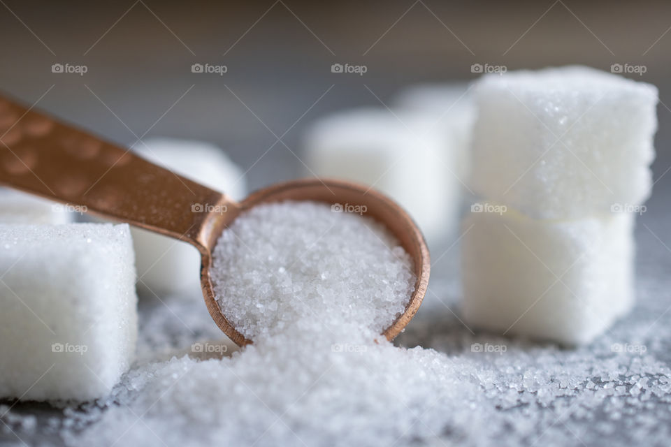 Close Up of a Spoonful of Sugar