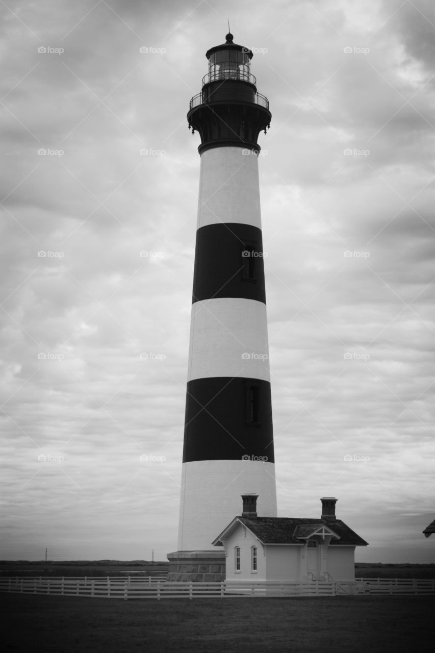 Low angle view of lighthouse