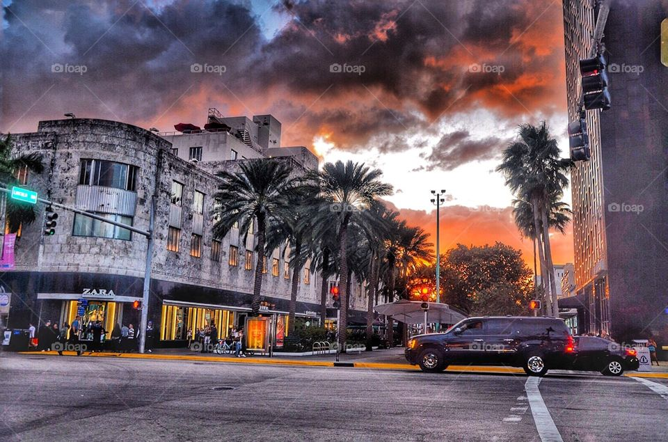 Sunset at the South Beach