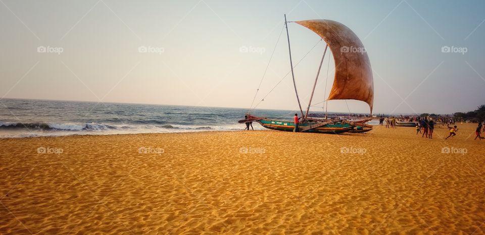 Beach, Sand, Seashore, Sea, Ocean