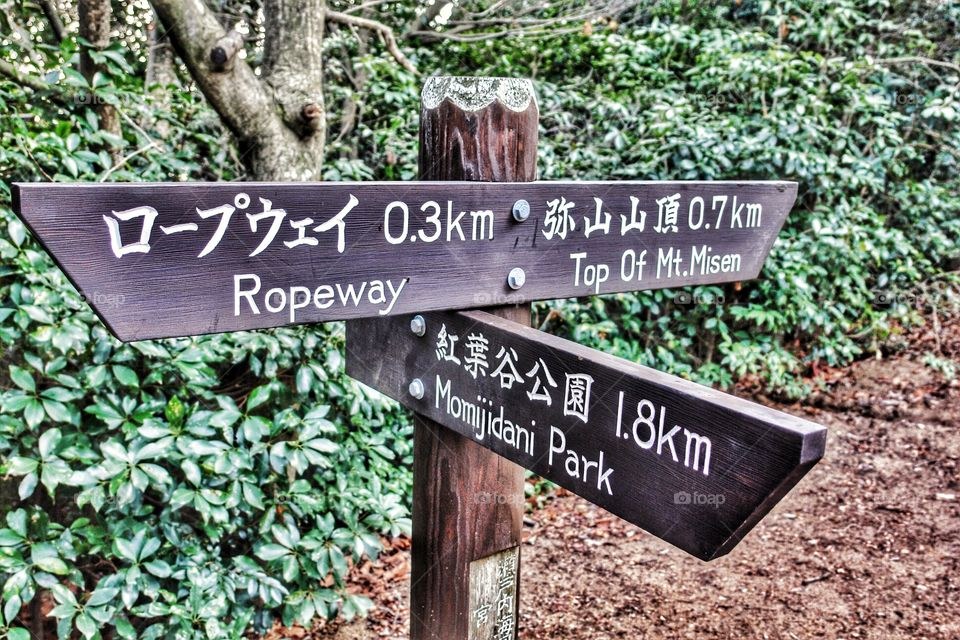 Japanese sign post. Japanese sign post