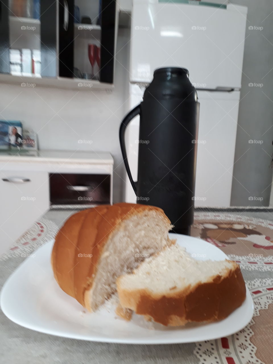 Bread with coffe