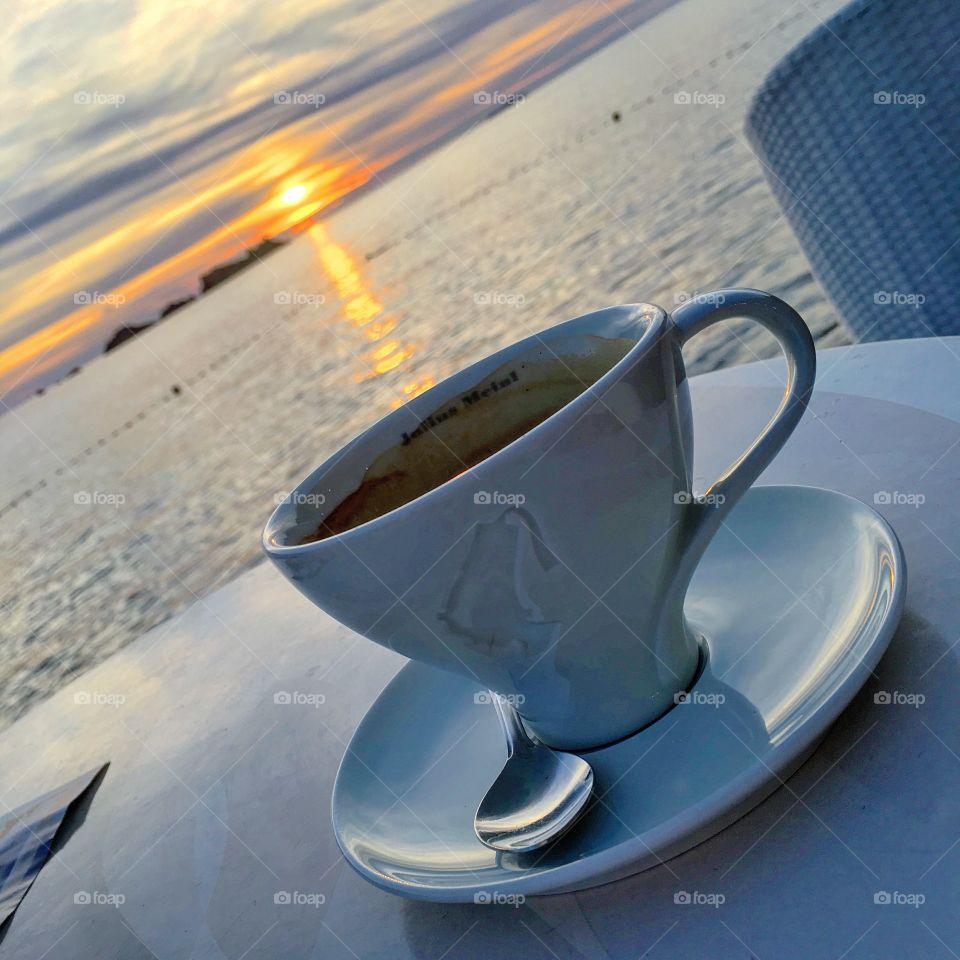 Dawn, Travel, Coffee, No Person, Cup