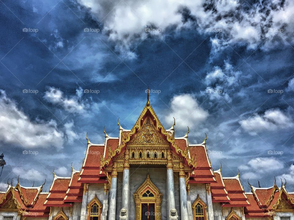 Temple . A temple in Thailand