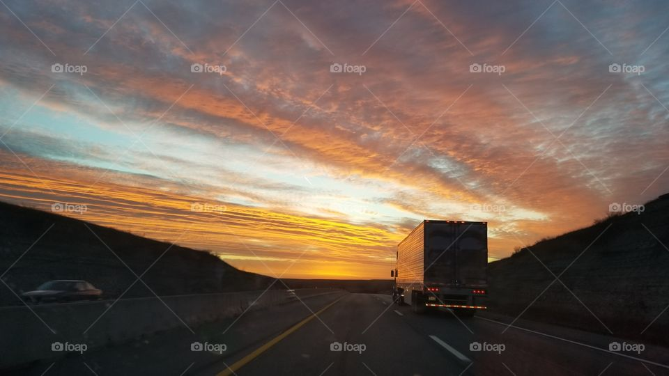 No Person, Sunset, Road, Dusk, Travel