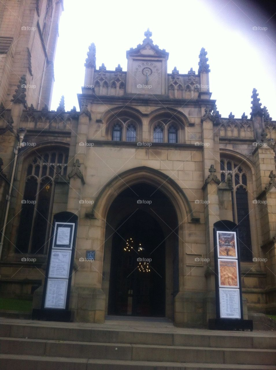 Entrance to Wakefield cathedral