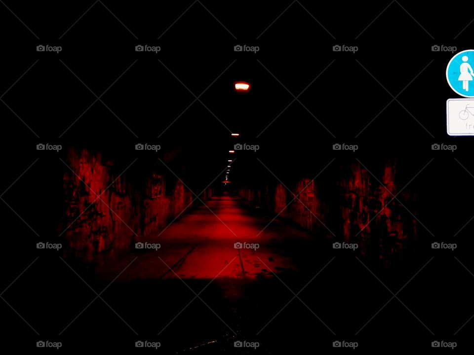 Tunnel bei Nacht Chemnitz