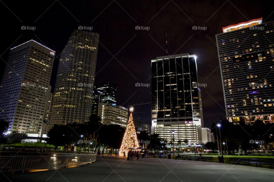 Christmas tree skyscrapers - julgran skyskrapor