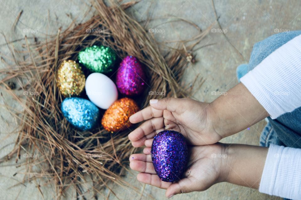 Egg hunt Easter