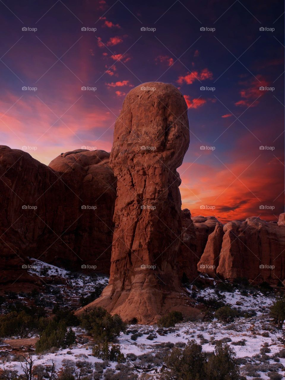Arches National Park at sunset (USA)