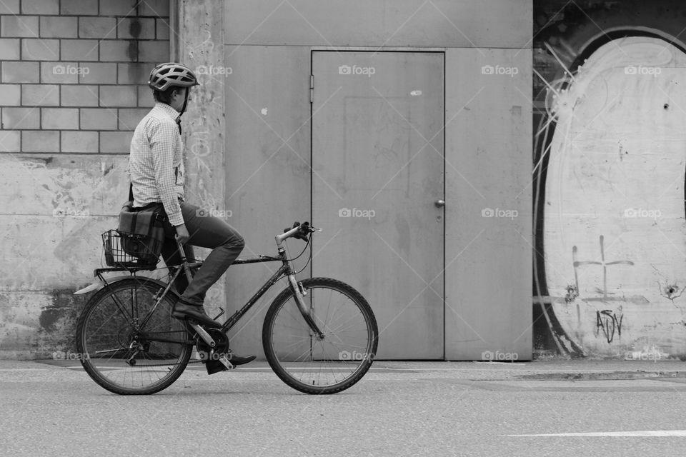 Street Photography.Cyclist.