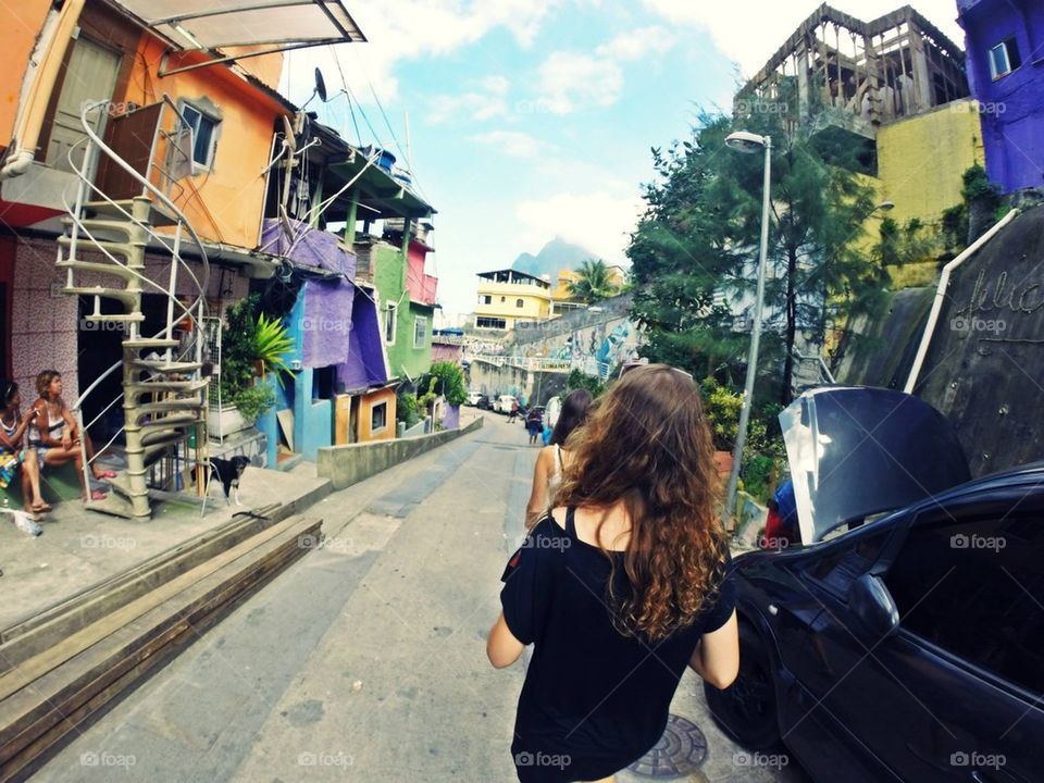 walking trough favela