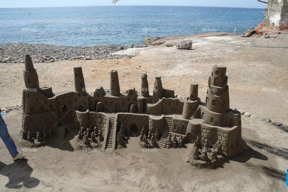 Sand castle | beach, art, tourism, tenerife