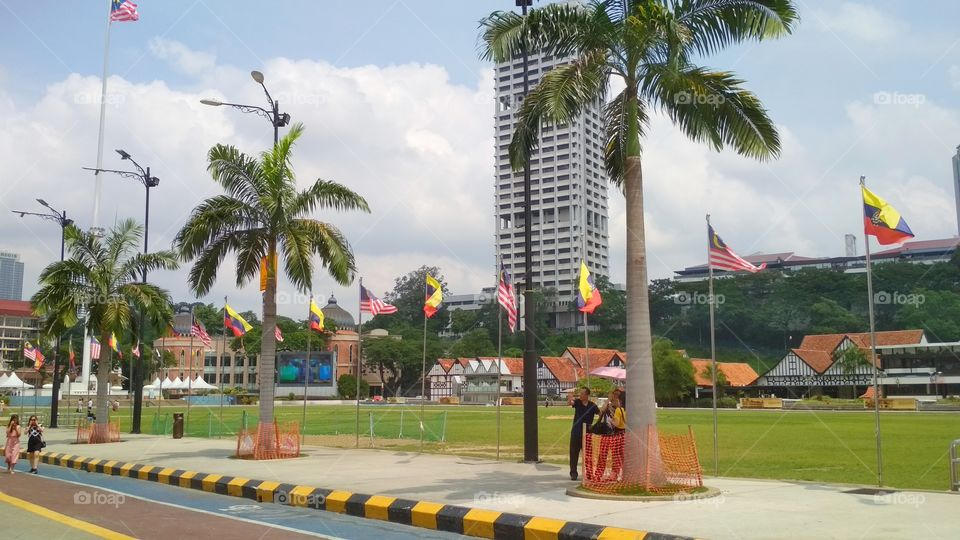The Merdeka Square (or in Malay language called as Dataran Merdeka) is a historical venue of the countryh's independence and as a landmark in middle of the Kuala Lumpur city.