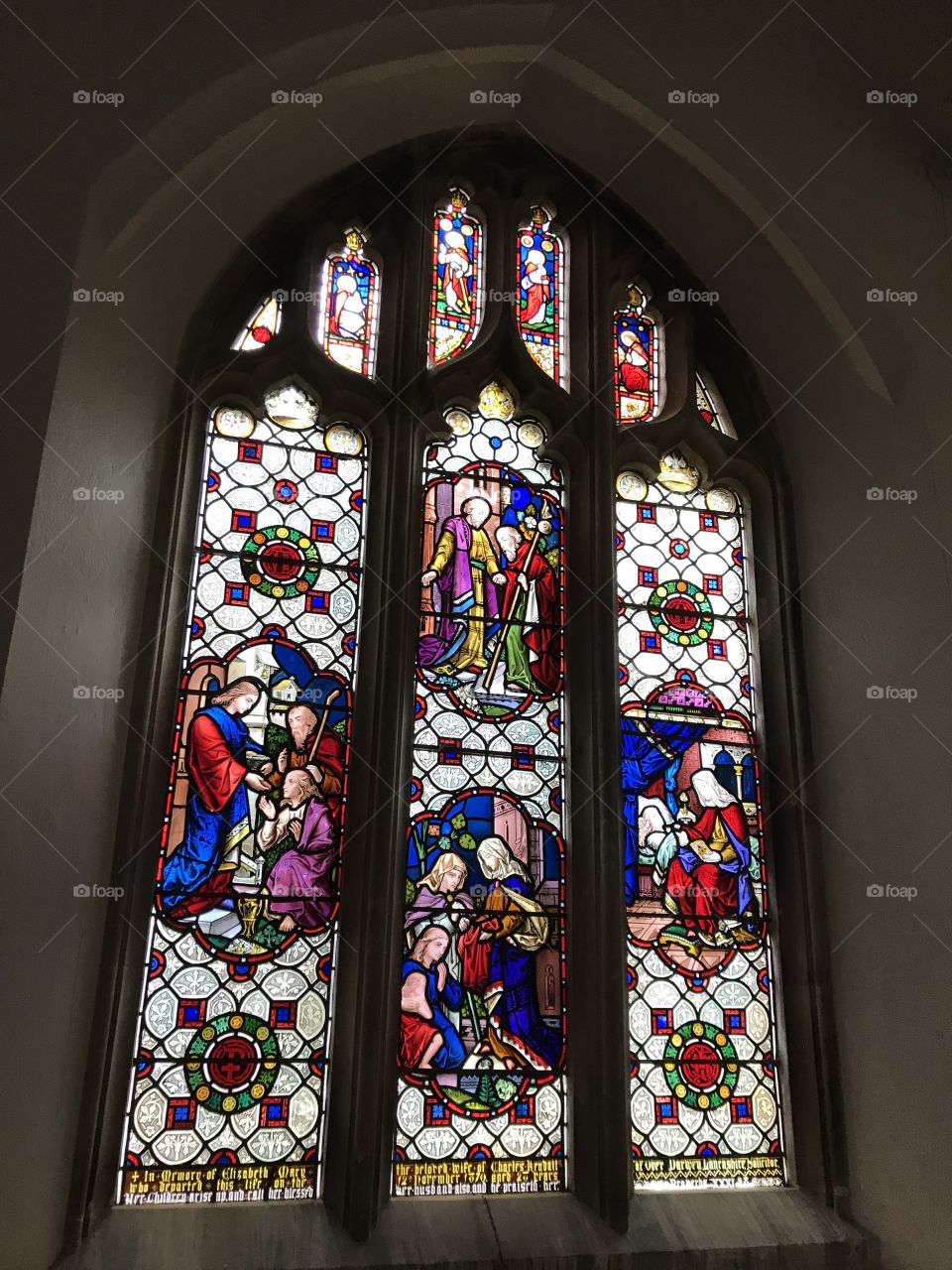 A most engaging stain glasses window to be found in All Saints Church, East Budleigh.