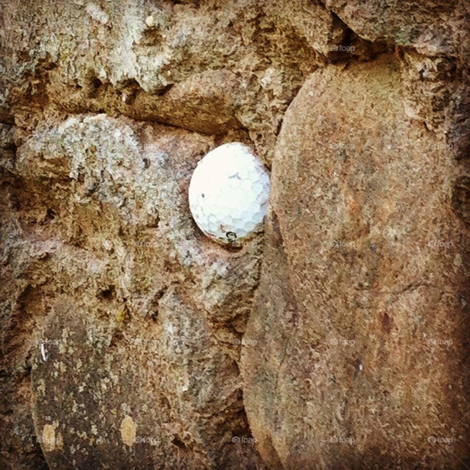Golf ball in a Wall