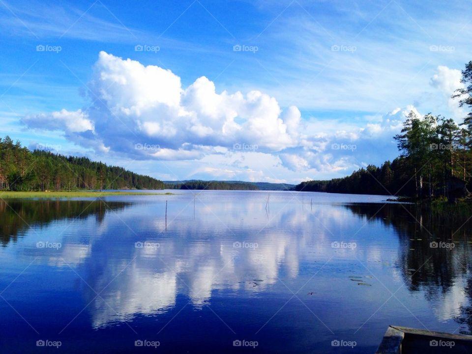 View of calm lake