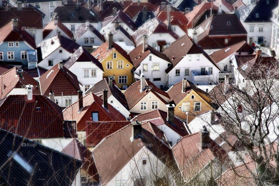 landscape norway houses sandviken by thmzgreen