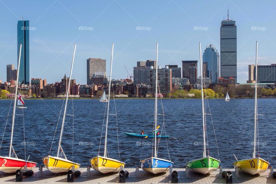 Boats by the Charles