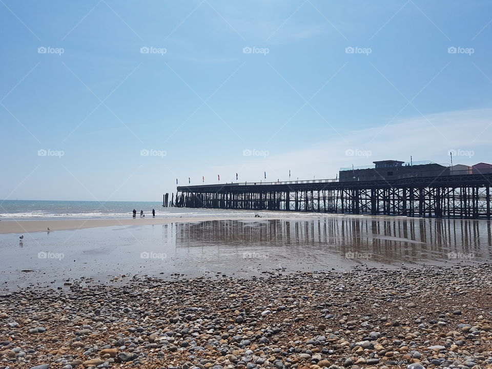 Hastings beach UK
