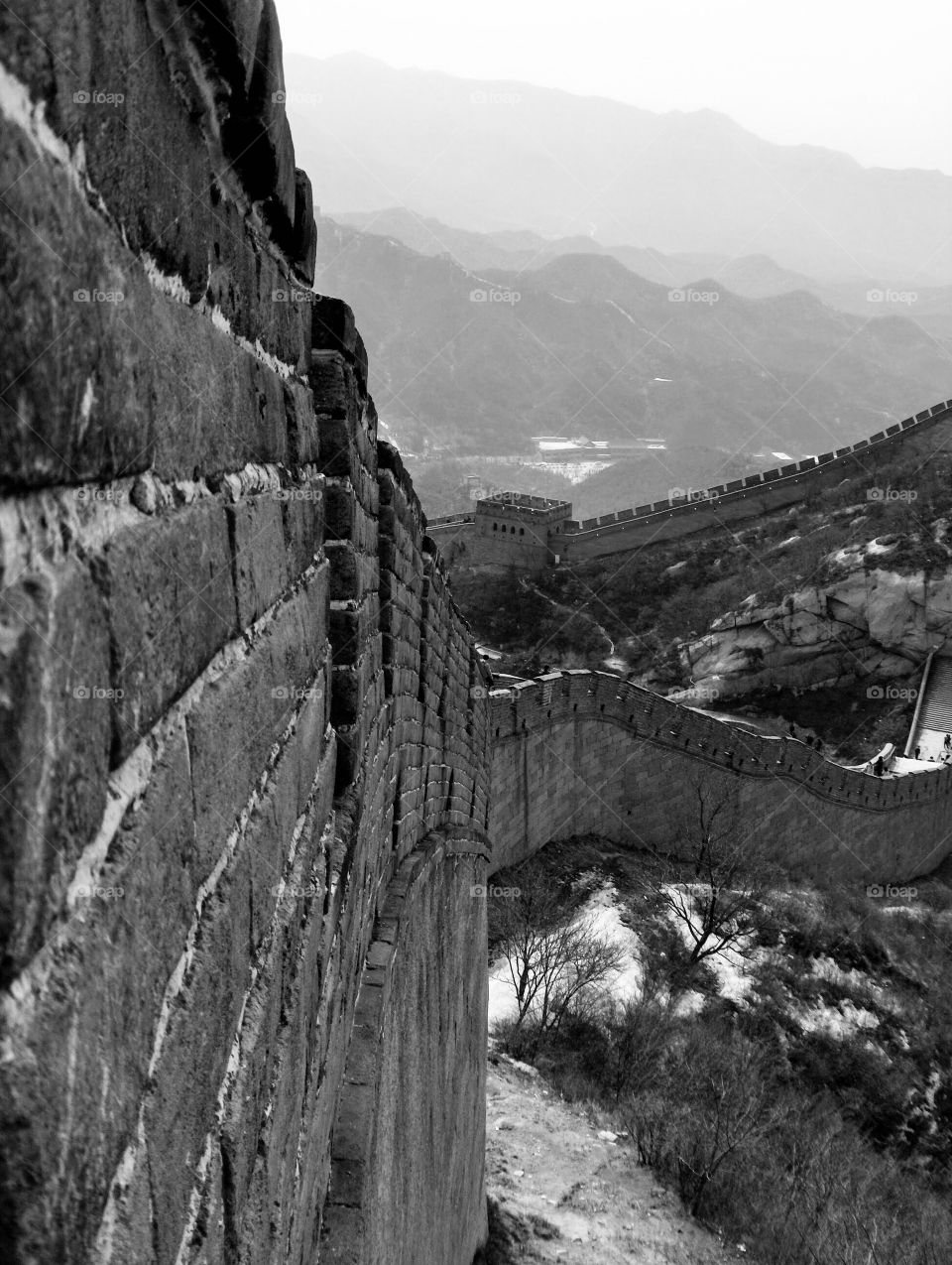 Touristy part of The Great Wall in Beijing