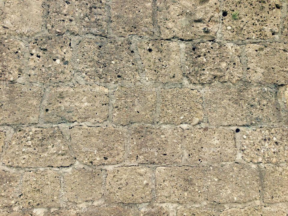 Close-up of stonewall