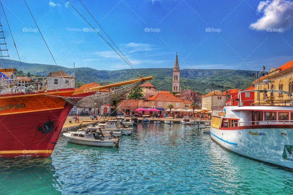 The port of Jelsa